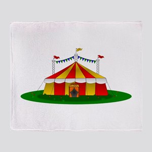 Circus Tent Throw Blanket